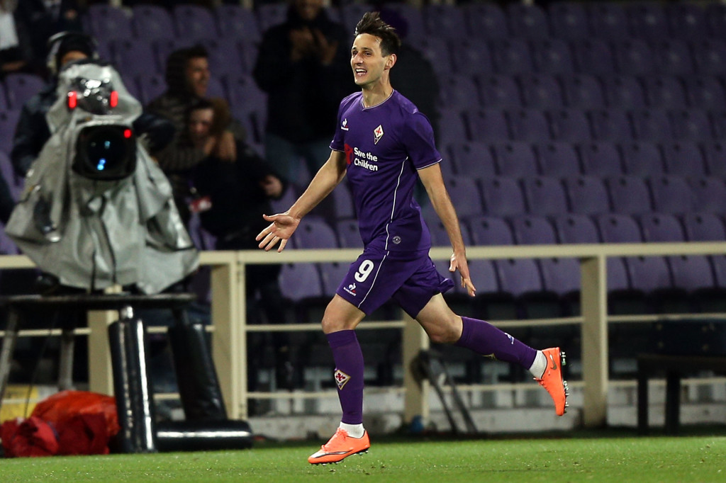 Nikola Kalinic, now at AC Milan, led Fiorentina to victory over Juventus last season.