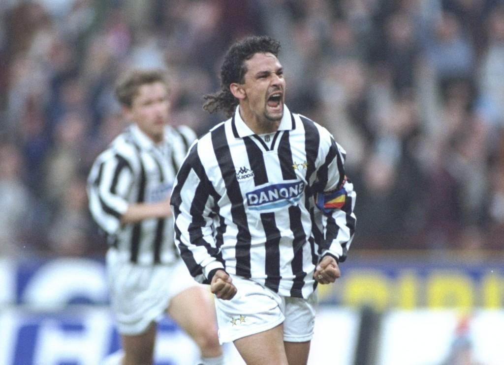 Glory days: Roberto Baggio for Juventus.