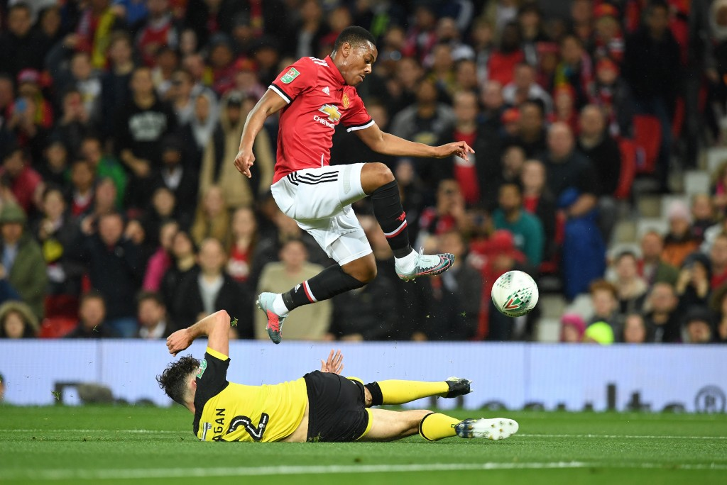 Anthony Martial was man of the match against Burton.
