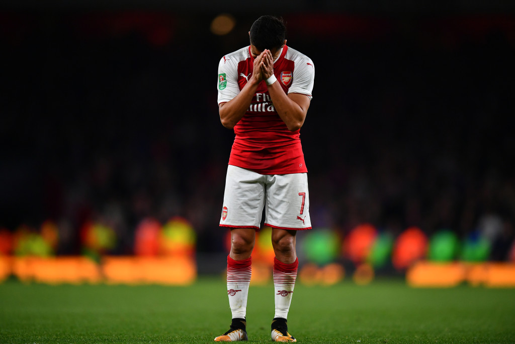 Alexis Sanchez has not started in the Premier League so far this season.