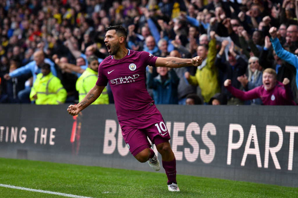 Aguero is on the verge of becoming City's all-time leading scorer.