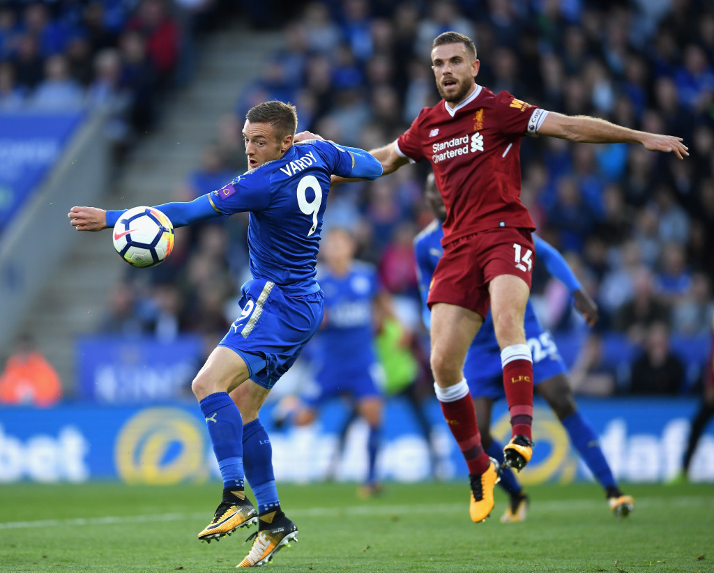 Vardy was too much to handle for the Liverpool defence.