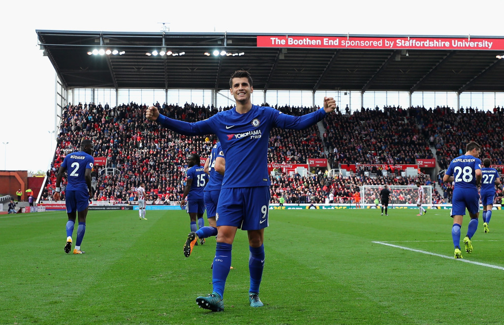 Morata's hat-trick came two days after Diego Costa was finally sold.