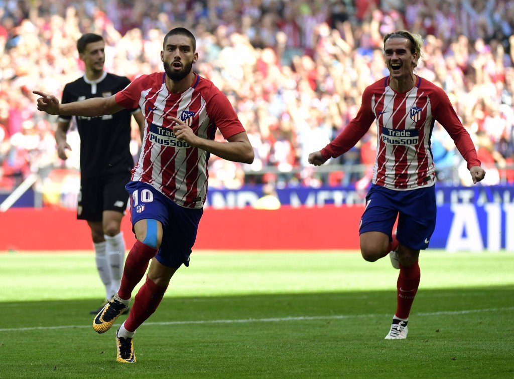Yannick Carrasco and Antoine Griezmann are part of a potent Atletico attack.