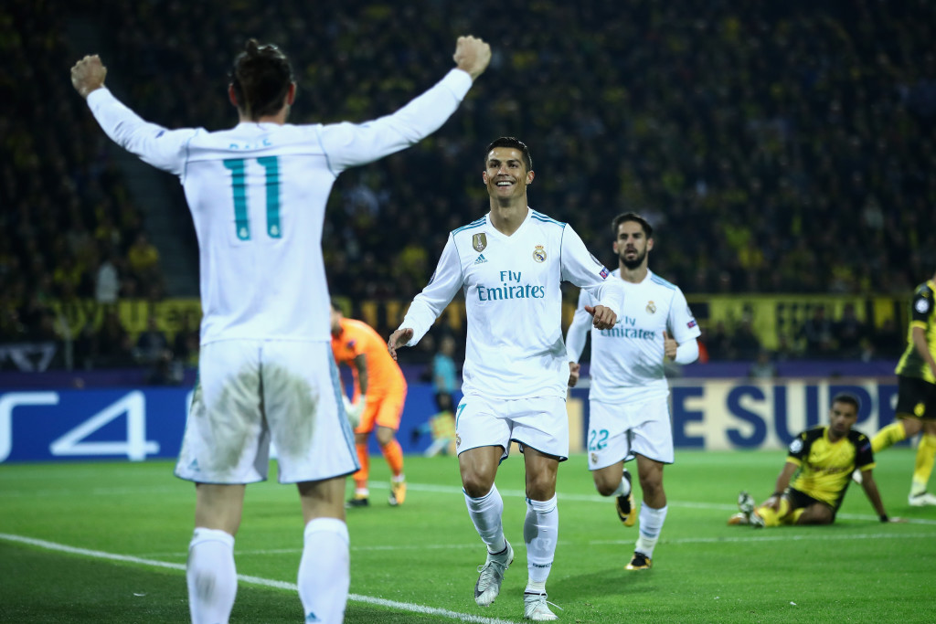 Ronaldo knew who to thank for his first goal on the night.