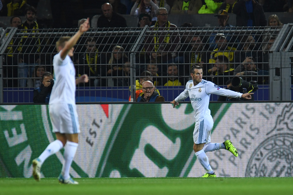 Bale had cause to celebrate after a stunning goal.