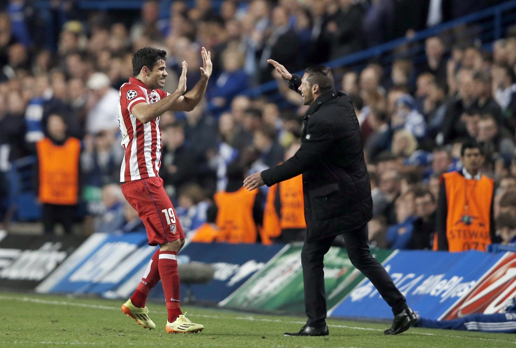 Costa will hope Simeone can help him extract revenge on Chelsea.