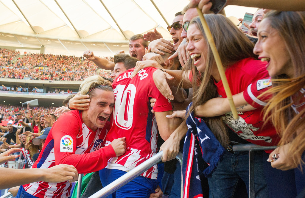 Atletico's players and fans have instantly settled in at their new stadium.