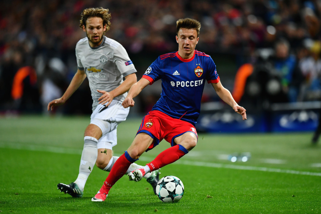 CSKA Moscow couldn't find an answer to United's dominance.