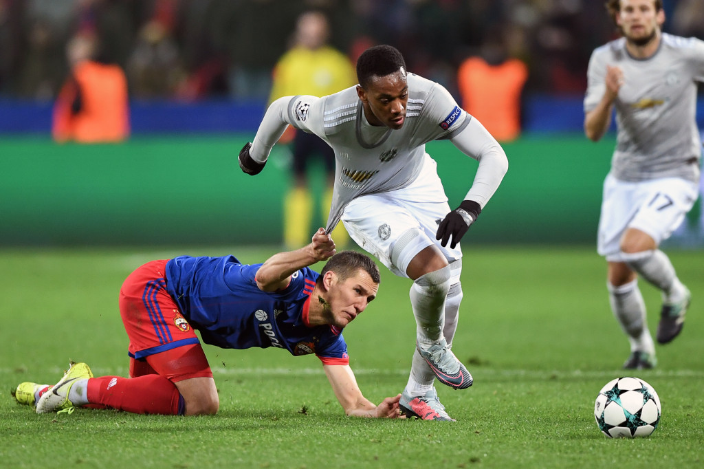 Martial proved too much to handle for the CSKA defence.