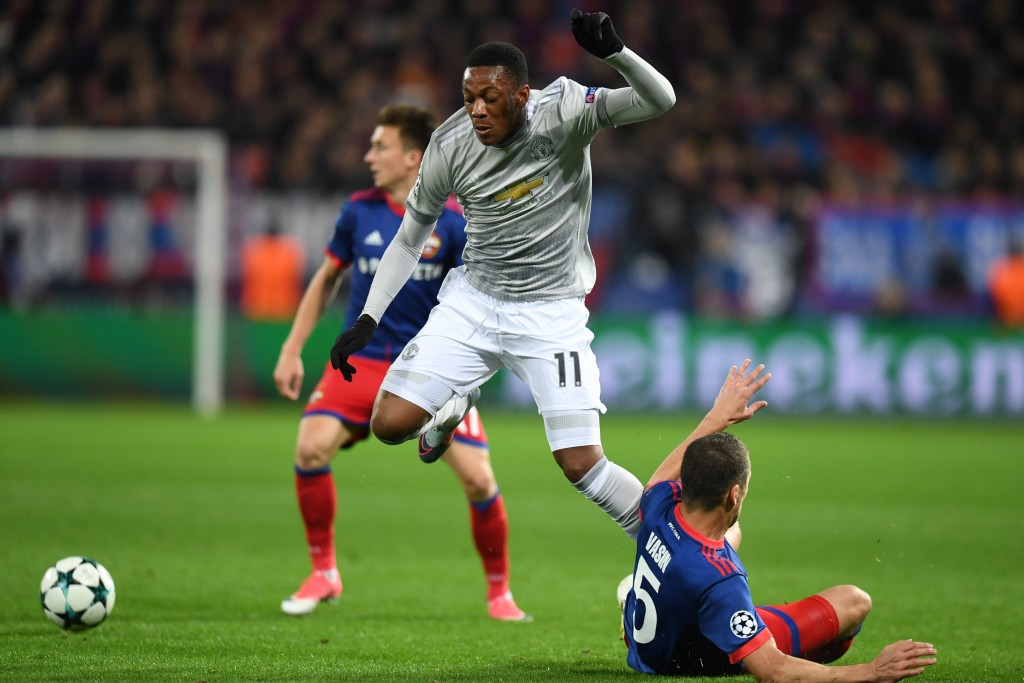 Martial tormented the CSKA defence throughout the game.
