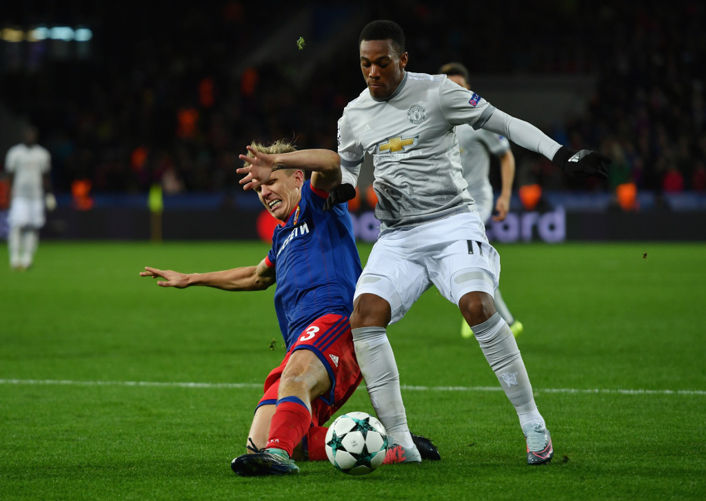 Anthony Martial put in a star turn in United's victory.