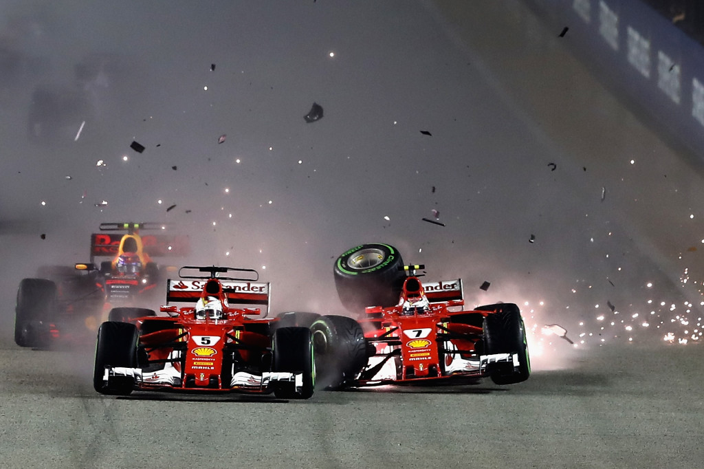 Vettel's crash in Singapore has left him playing catch-up in the title race.