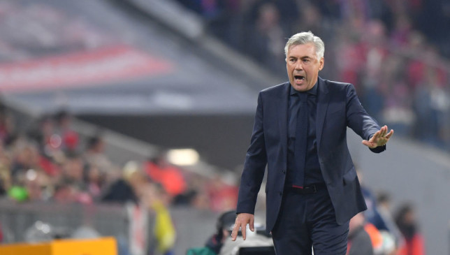 Under pressure: Ancelotti.
