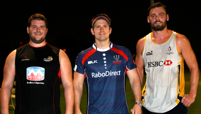 Craig Nutt (l) started his career in the UAE with Abu Dhabi Saracens.