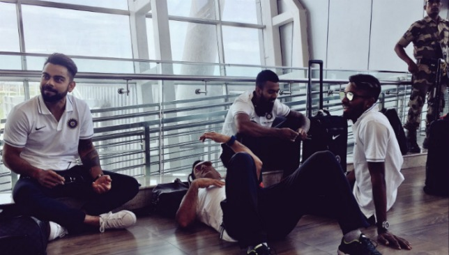 Dhoni made the Chennai airport floor his bed during the wait.