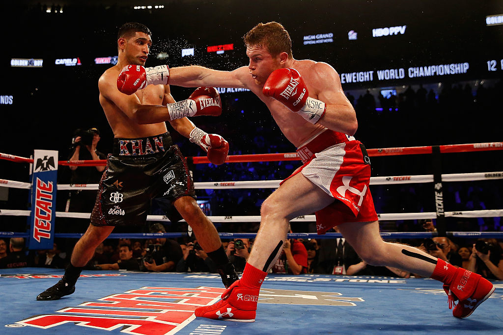 Khan was knocked out by Alvarez in the WBC middle-weight title fight in 2016.