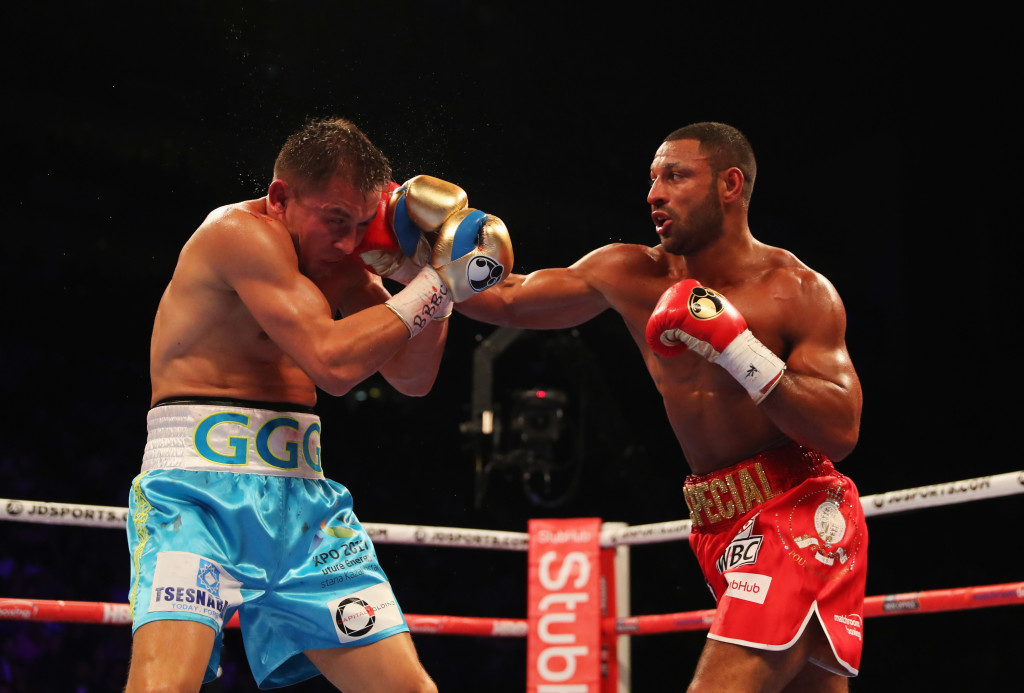 GGG eats a right hand from Kell Brook