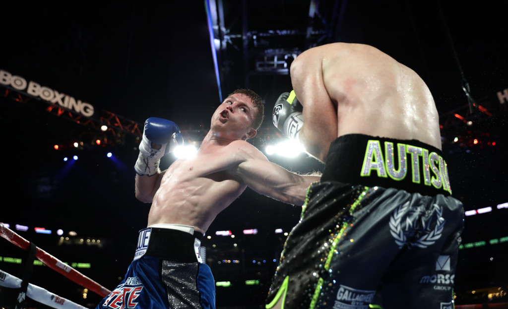 Canelo stunningly stopped Liam Smith with a brutal body shot