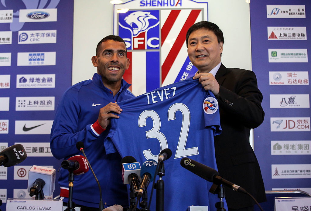 Tevez became one of the highest-paid players in the world after signing for Shanghai Shenhua.