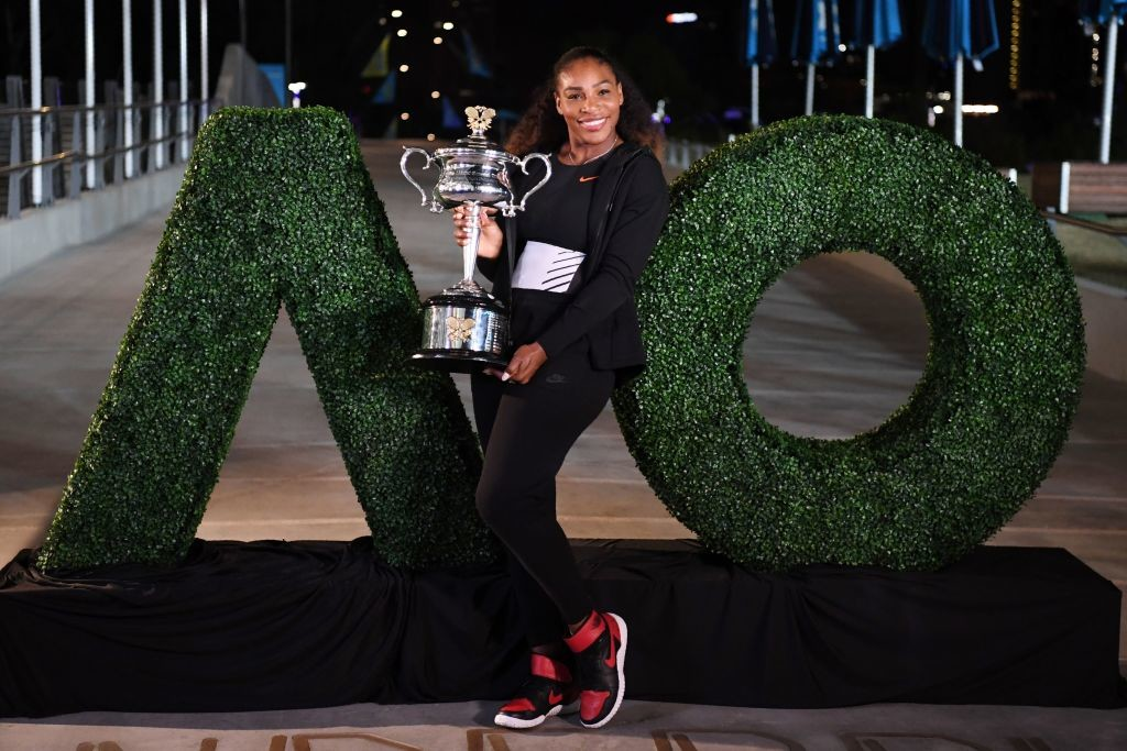 Serena Williams had outlined plans to return to defend her 2017 AO crown.