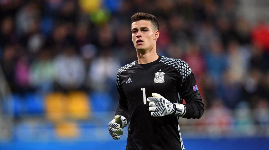 Kepa in action for the Spanish Under-21s