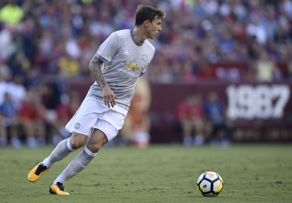 Victor Lindelof in action during pre-season