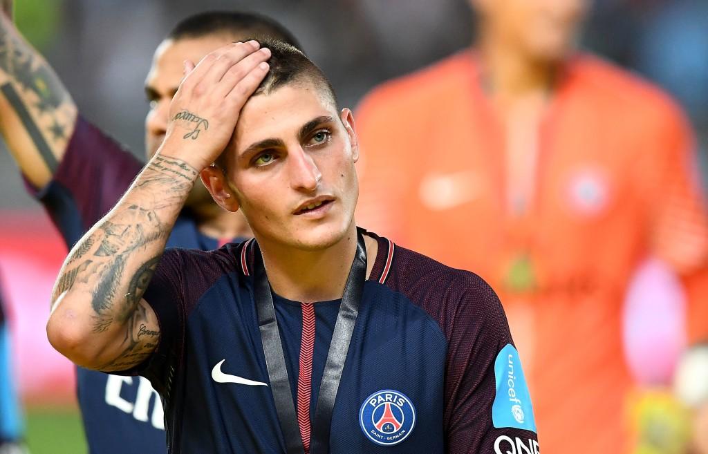 Paris Saint-Germain's Italian midfielder Marco Verratti