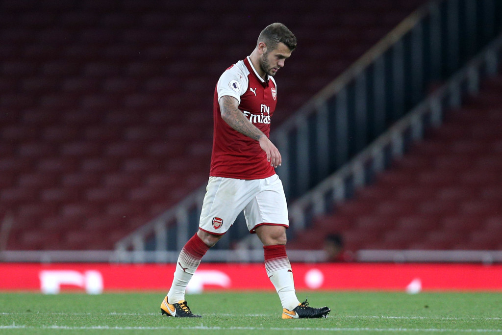 Jack Wilshere was sent off in a Premier League 2 fixture earlier this season