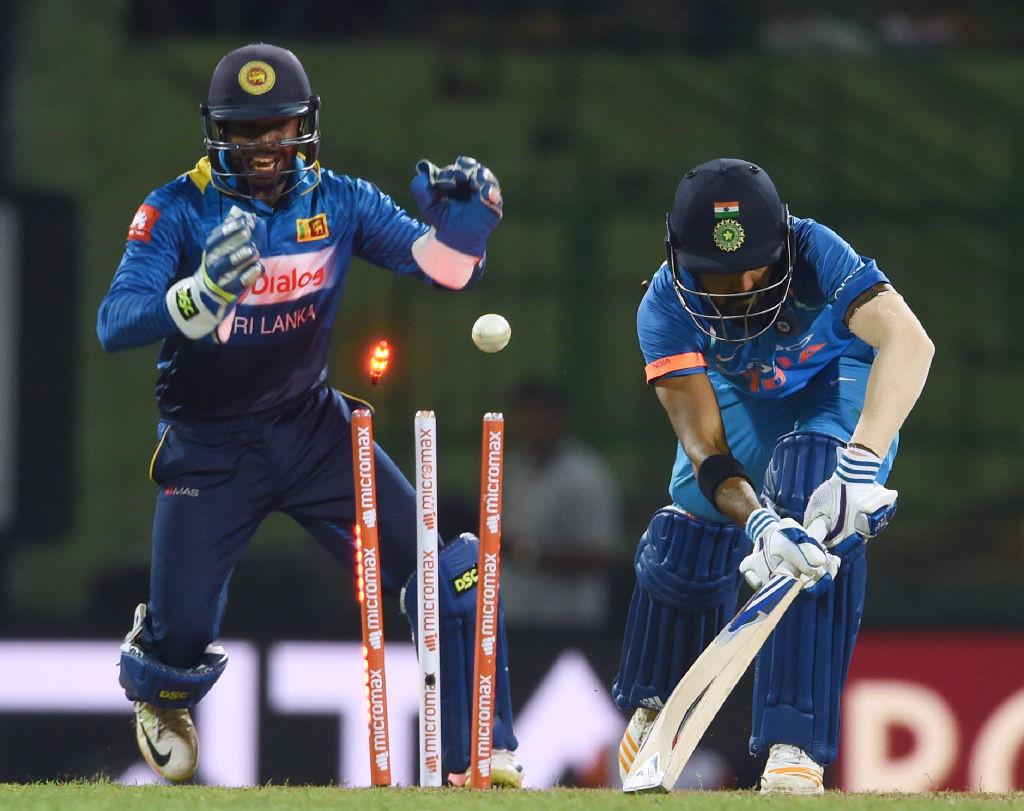 Rahul has been dismissed thrice in a row by Sri Lankan spinner Akila Dananjaya.