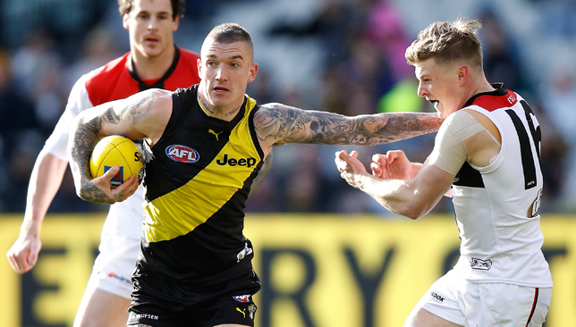 Star man: Dustin Martin.