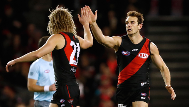 Jobe Watson and Dyson Heppell.