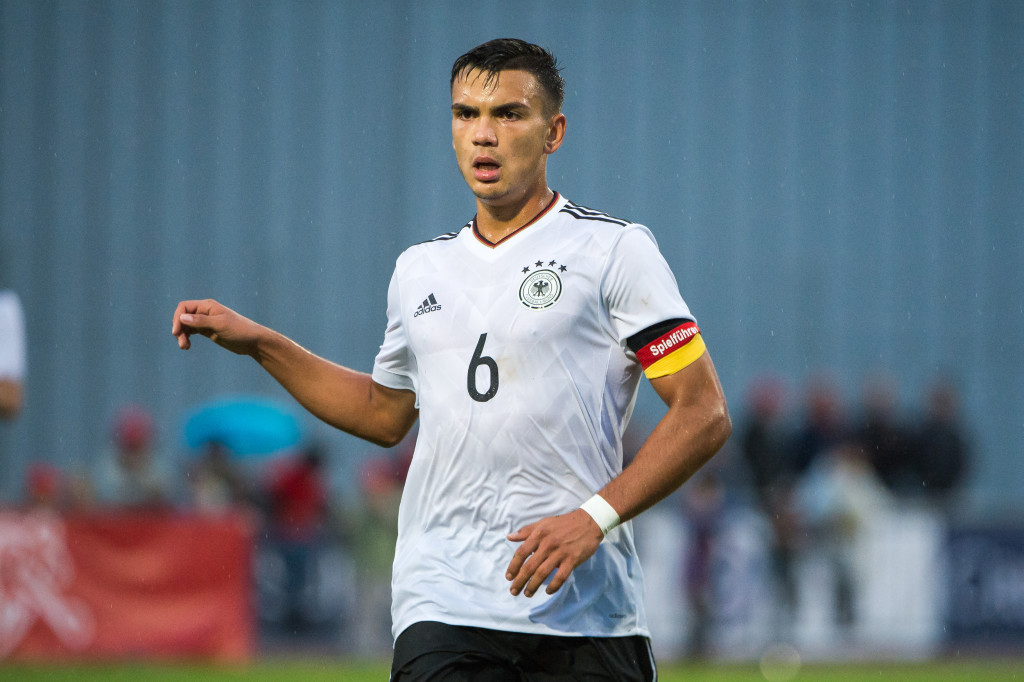 Atakan Akkaynak playing for Germany U20s