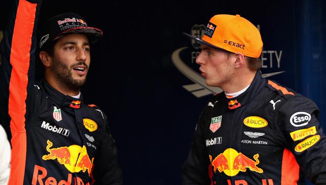 Daniel Ricciardo and Max Verstappen.