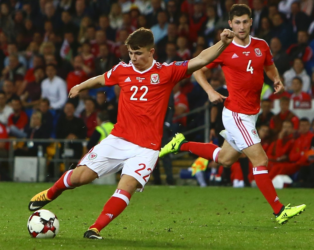 Ben Woodburn scores his winner against Austria