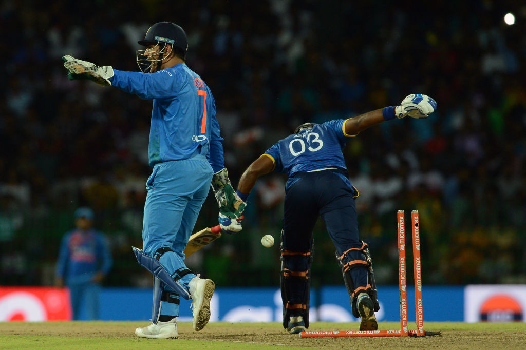 Dhoni also became the first man to complete a century of stumpings in ODI's during the Sri Lanka tour.