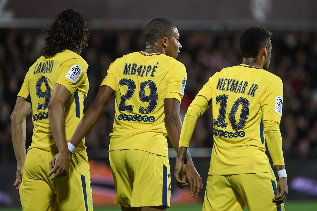 PSG front free of Edinson Cavani, Kylian Mbappe and Neymar