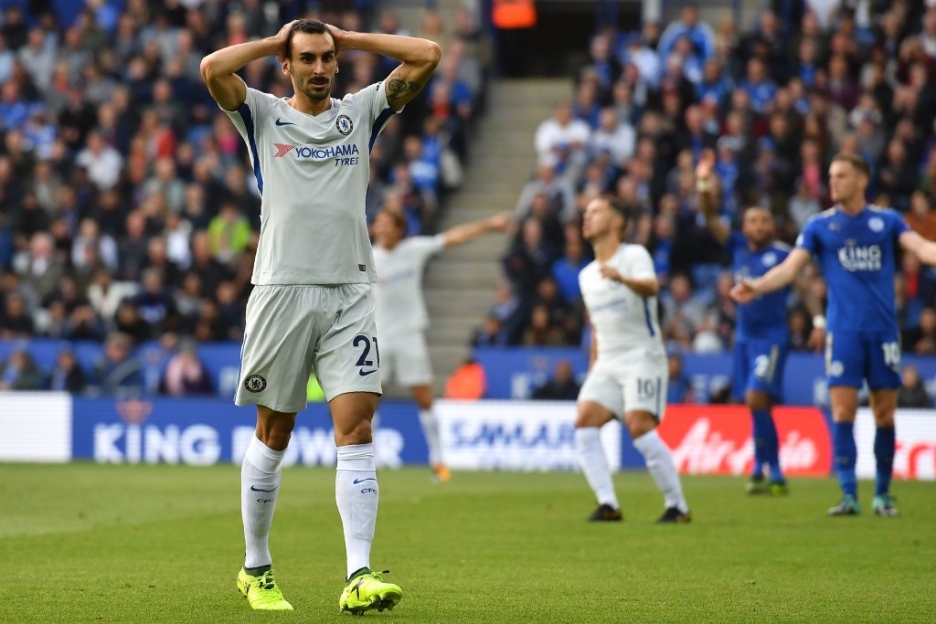 Davide Zappacosta reacts to a missed chance