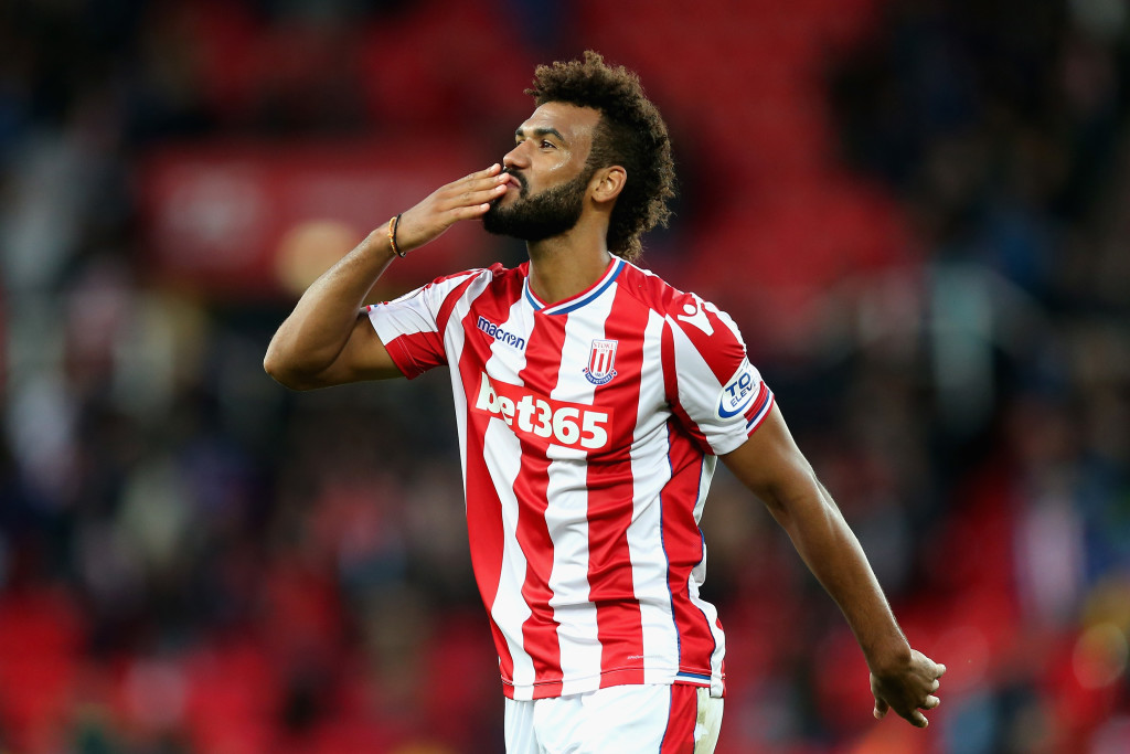 German import: Eric Maxim Choupo-Moting celebrates for Stoke (Getty).