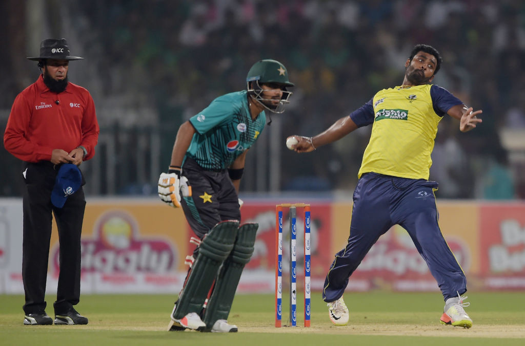 Perera was taken to the cleaners by the Pakistan batsmen.