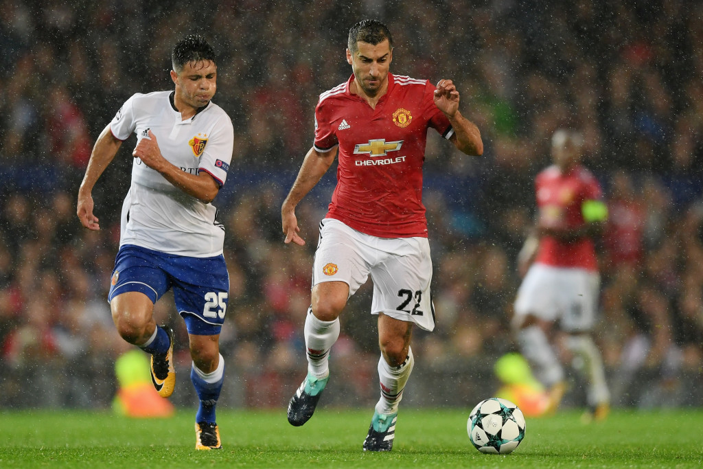 Henrikh Mkhitaryan in action against Basel