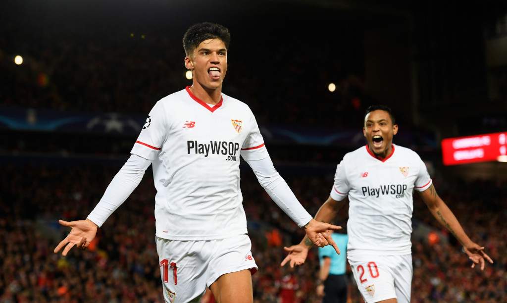 Joaquin Correa celebrates his equaliser