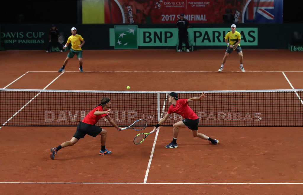 Thompson and Peers beat their Belgian opponents in straight-sets.