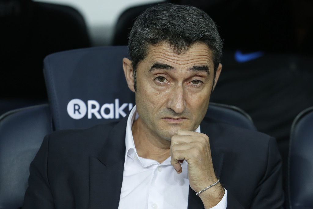 Enersto Valverde won't be sitting too comfortably despite Barca's stunning start