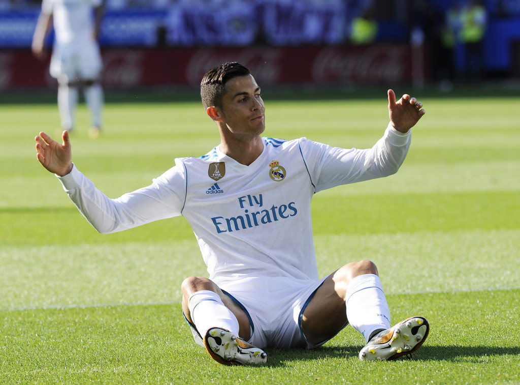 A frustrated Cristiano Ronaldo during the clash with Alaves
