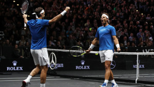 Doubles partners: Federer and Nadal.