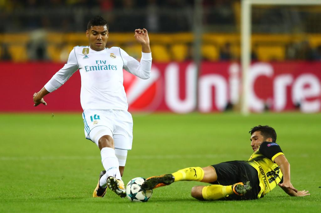 Nuri Sahin tackles Casemiro.