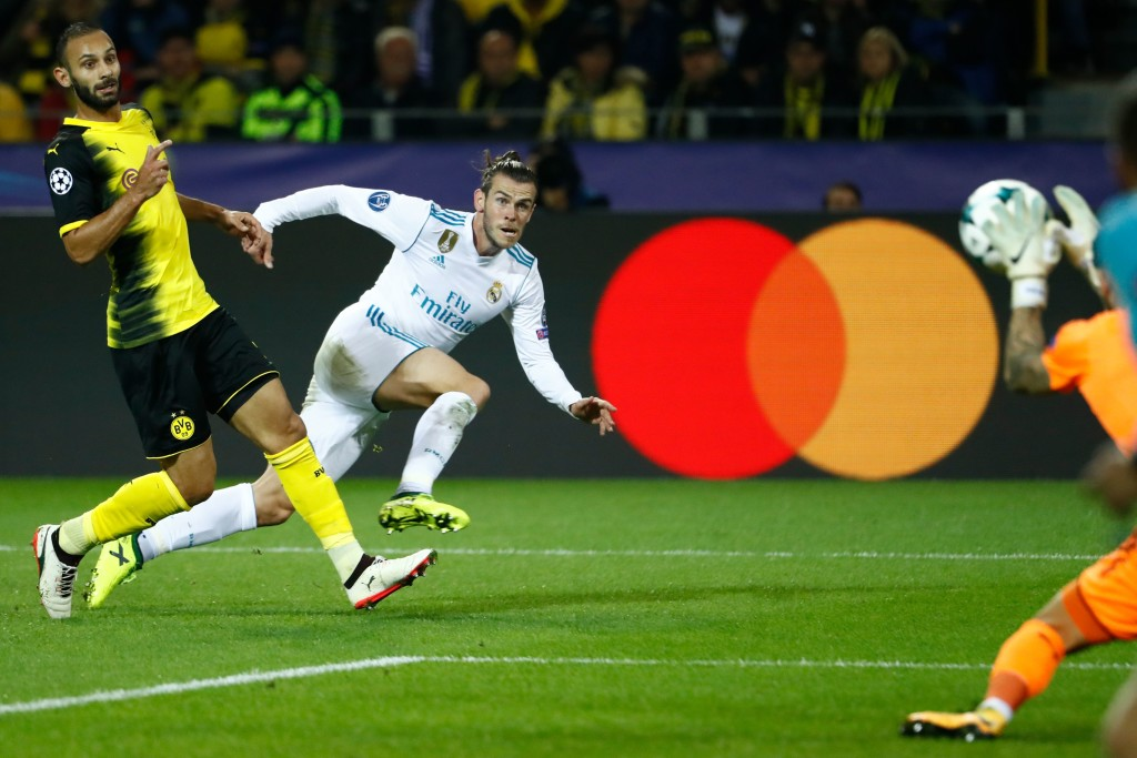 Gareth Bale scoring against Borussia Dortmund