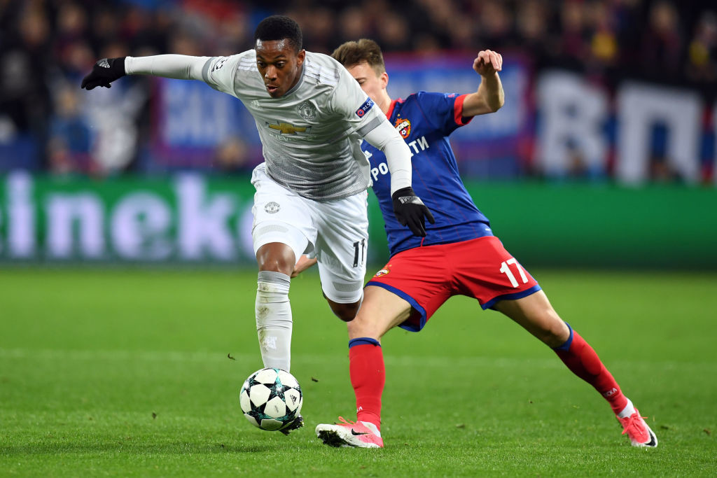 Anthony Martial (L)