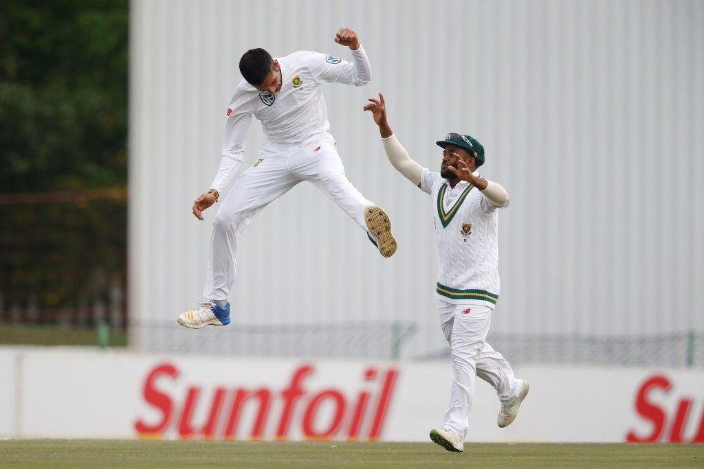 Maharaj snapped the crucial wicket of Mushfiqur Rahim.